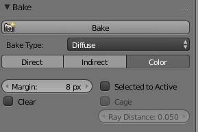 Baking color on cycles