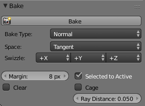 Baking normals on cycles