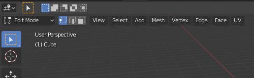 Blender edit menu