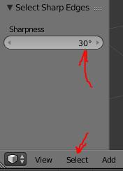Select Sharp edges